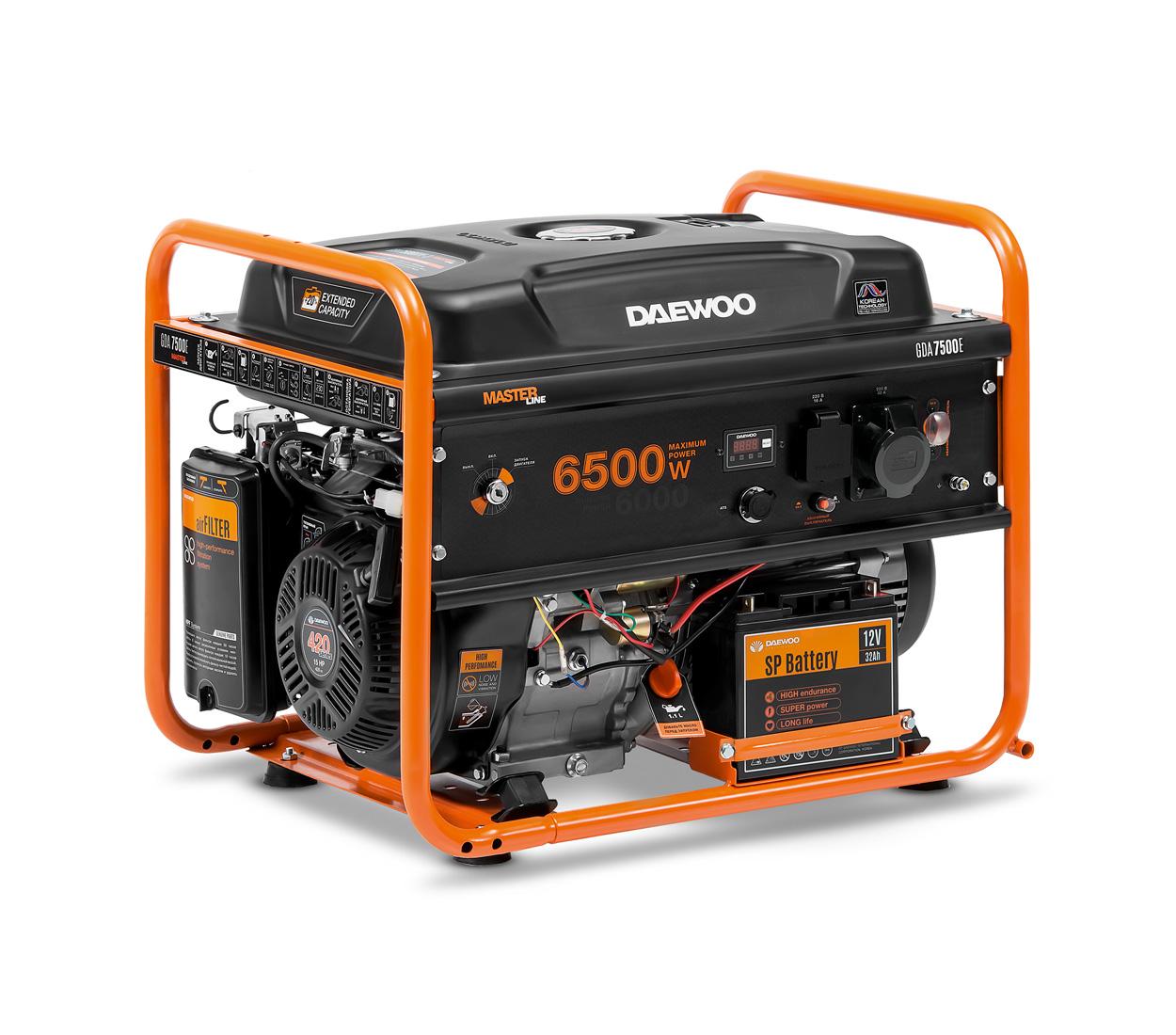 Бензиновый генератор (Бензогенератор) DAEWOO GDA 7500E